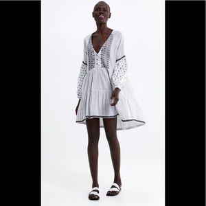 Zara Cotton Embroidered Dress